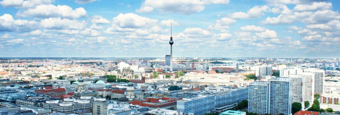 Aussicht auf Berlin und auf das Gebäude der Berliner Steuergespräche